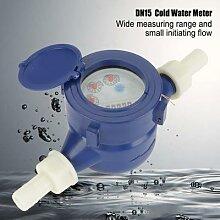 Compteur d'eau froide en plastique DN15, pour