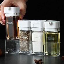 Condiment Pot - 4 Pièces En Plastique Transparent