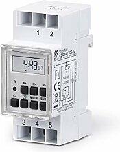 conecto CC50204 Horloge digitale pour rail chapeau