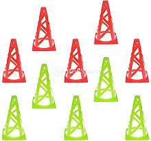 Cônes de signalisation 10 pièces 9 ' PE