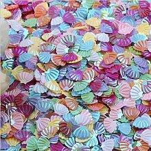 Confettis irisés à paillettes scintillantes,
