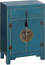 Confiturier 2 Portes, 1 tiroir Bleu Meuble Chinois