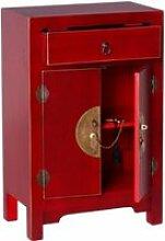 Confiturier 2 portes, 1 tiroir Rouge Meuble