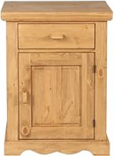Confiturier rustique pin massif 1 porte 1 tiroir
