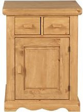Confiturier rustique pin massif 1 porte 2 tiroirs