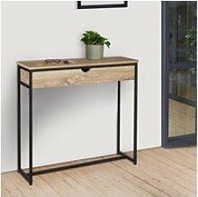 Console 1 tiroir detroit design industriel