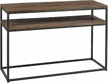 Console deux plateaux en bois recyclé - Noir