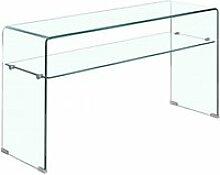 Console en verre trempé étagère transparente -