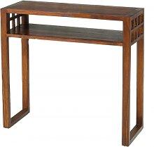 Console rectangulaire 1 étagère bois