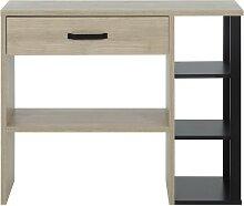 Console style industriel un tiroir avec étagères