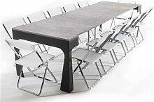 Console transformable en table avec 12 chaises