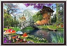 Conte de fées royaume monde magique paysage
