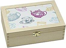 contento 866386 Boîte à thé Tasse et théière,