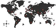 CONTRAXT Carte du monde murale bois. Grande