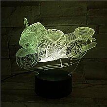 Cool 3D Veilleuse Moto Lampe De Table 3D Illusion