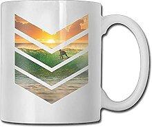 Cool Sunrise Surfer Model nouvelle tasse à café