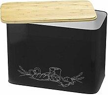 Cooler Kitchen Grande boîte à Pain en métal de