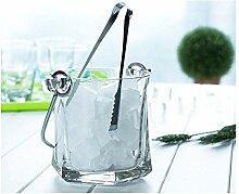 COOLSHOPY Seaux en verre transparent Seau à