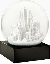 CoolSnowGlobes Boule à Neige New York Blanc