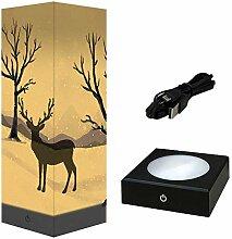 Cooltto 3D Lampe d'ombre en Papier LED USB