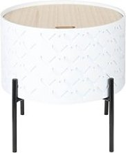Corally - table d'appoint ronde blanche avec
