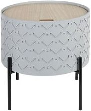 Corally - table d'appoint ronde grise avec