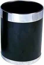 Corbeille à papier avec bordure argentée bolero