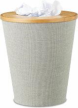 Corbeille à papier en bambou poubelle ronde seau