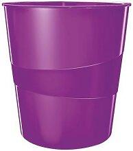 corbeille à papier leitz wow violet