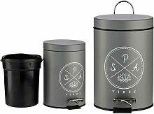 Corbeille à papier Spa Gris (3000 ml)