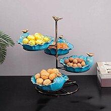 Corbeille de Fruits Bleu Plaque Multicouche Fruit