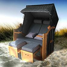 Corbeille de plage mer Baltique bois Deluxe