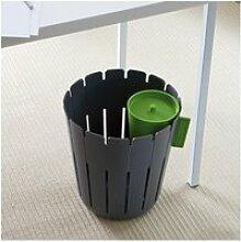 Corbeille design de bureau grise