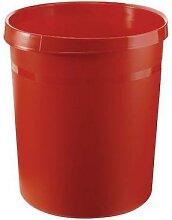 corbeille en plastique 18l rouge