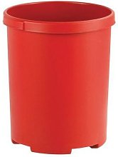 corbeille ronde 50l rouge