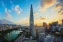 Corée Lotte World Tower Seoul Jigsaw Puzzle pour