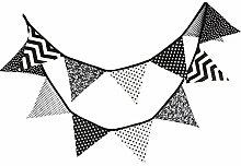 Cosanter 1 X Tissu de Coton Fanion Double Face