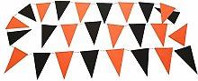 Cosanter Fanion Bicolore Orange Noir Bunting