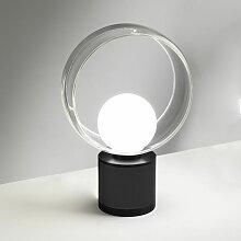 Cosmit Abat-jour a LED Noir, Grand