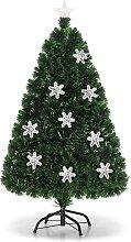 Costway 150cm Sapin de Noël Artificiel LED