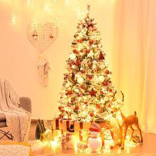 Costway Arbre de Noël Artificiel 180 CM avec 250