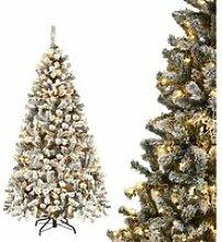 COSTWAY Arbre de Noël Artificiel Enneigé 180CM