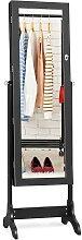 Costway Armoire à Bijoux sur Pied avec Miroir