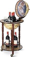 Costway Bar Globe Terrestre Mappemonde en Bois