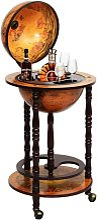 COSTWAY Bar Globe Terrestre Vintage Mappemonde en