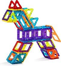 Costway Bloc de Construction Magnétique Enfant