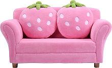 Costway Canapé sofa enfant 2 oreillers meubles