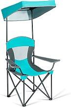 Costway Chaise de Camping Pliable avec Pare-Soleil