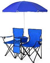 Costway Chaise de Camping Pliante 2 Places avec