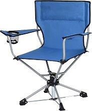 Costway Chaise de Camping Pliante Pivotante Charge